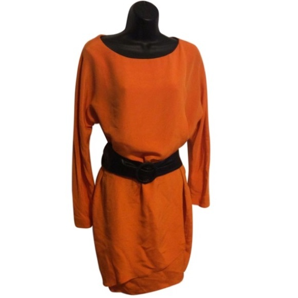 Orange Silk Tunic